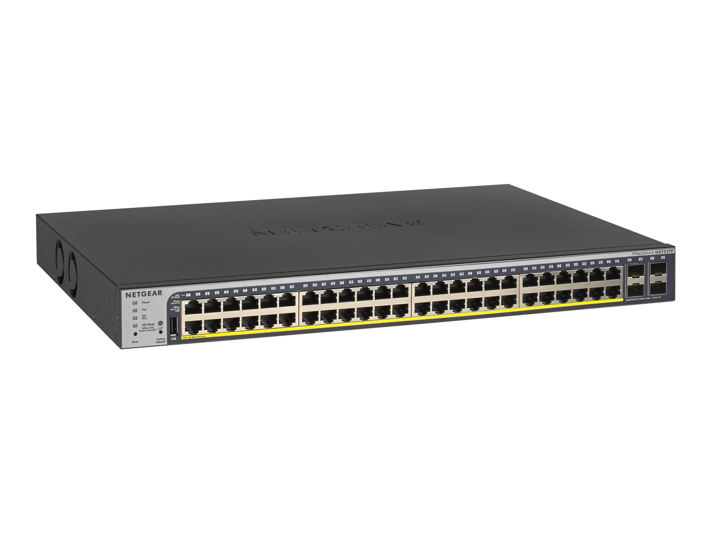 NETGEAR Smart GS752TP - v2 - switch - 48 ports - smart - rack-mountable