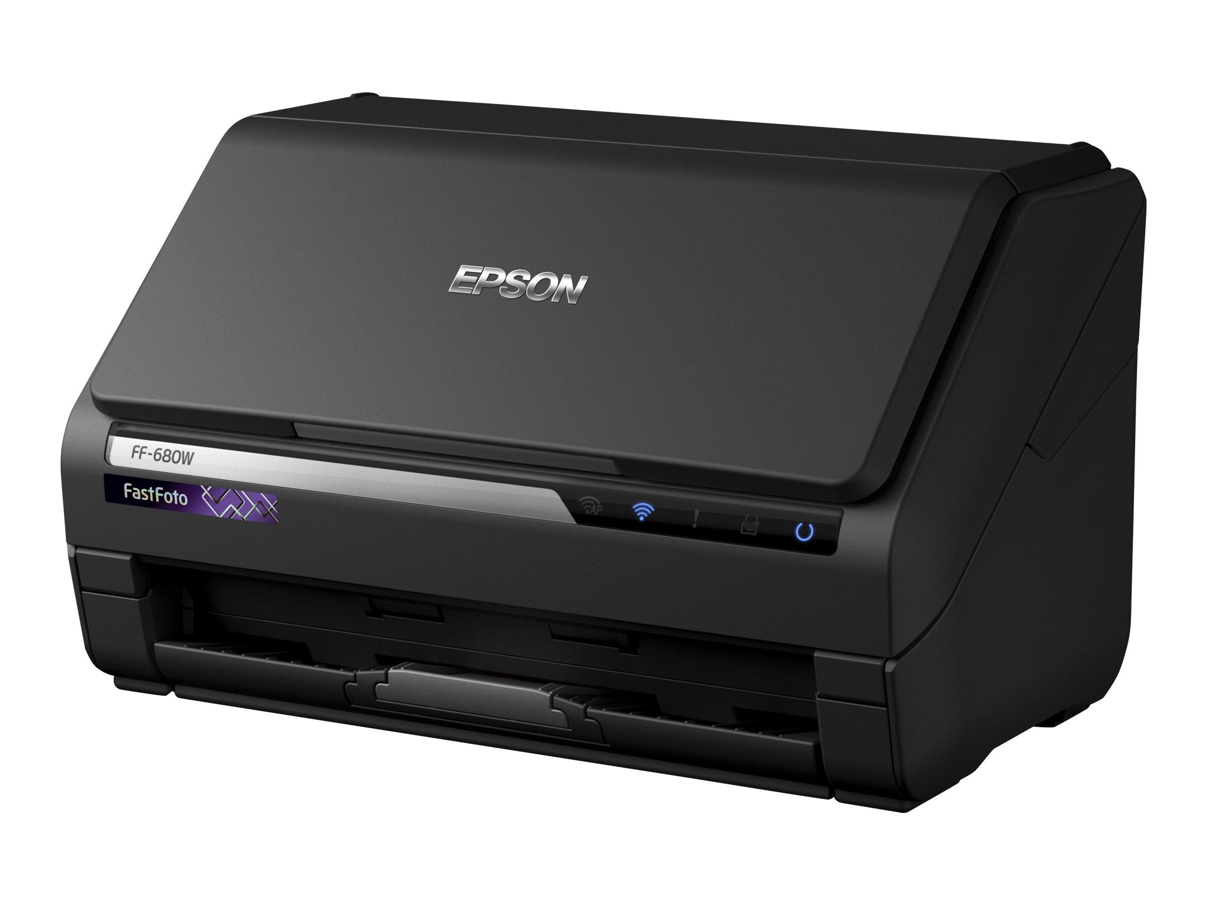 Epson FastFoto FF-680W - document scanner - desktop - USB 3.0, Wi-Fi(n)