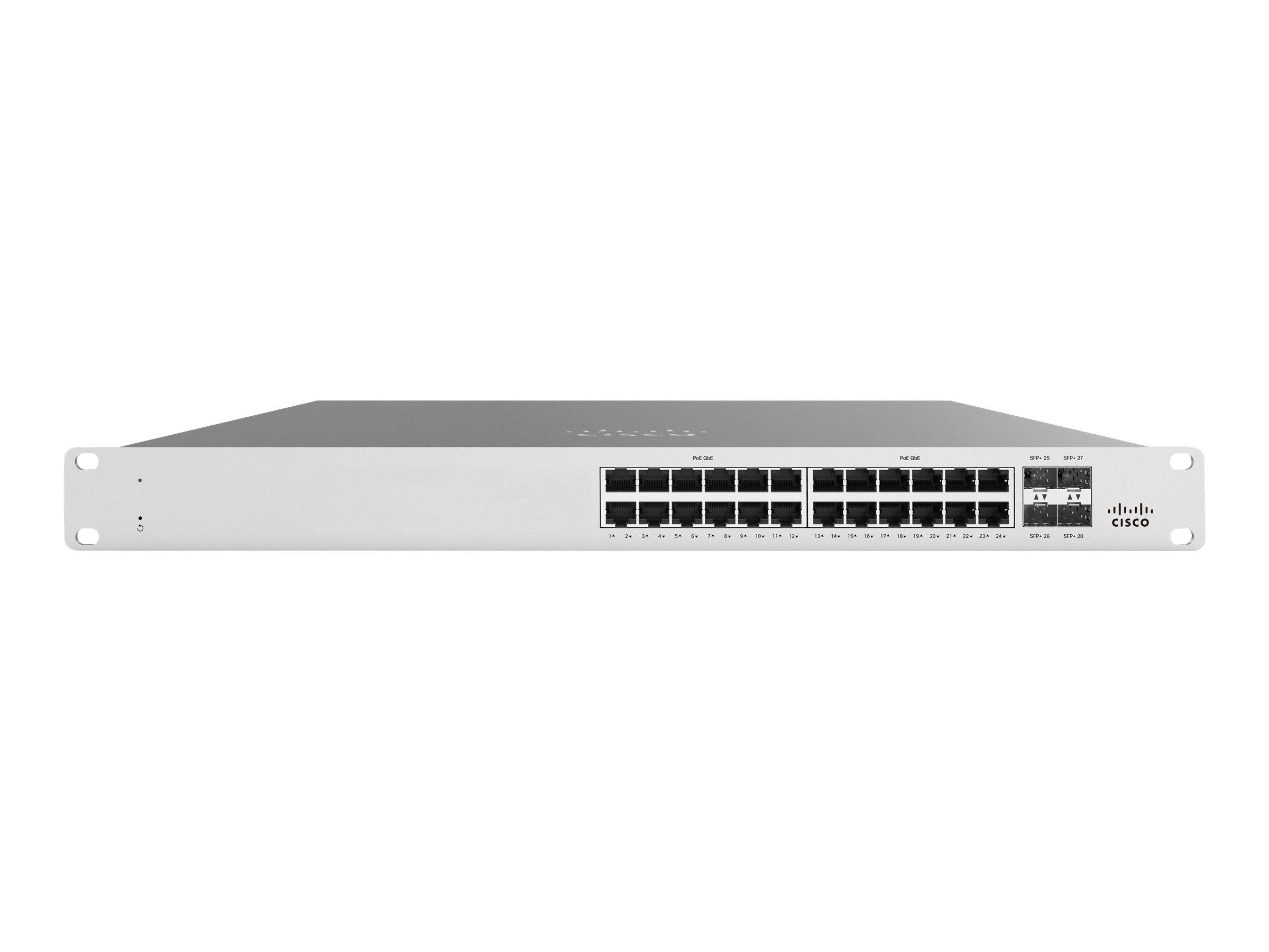 Cisco Meraki Cloud Managed MS125-24P - switch - 24 ports - managed