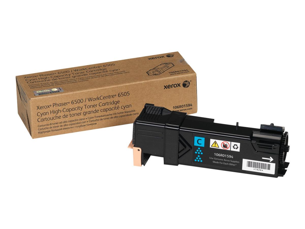 Xerox Phaser 6500 - High Capacity - cyan - original - toner cartridge