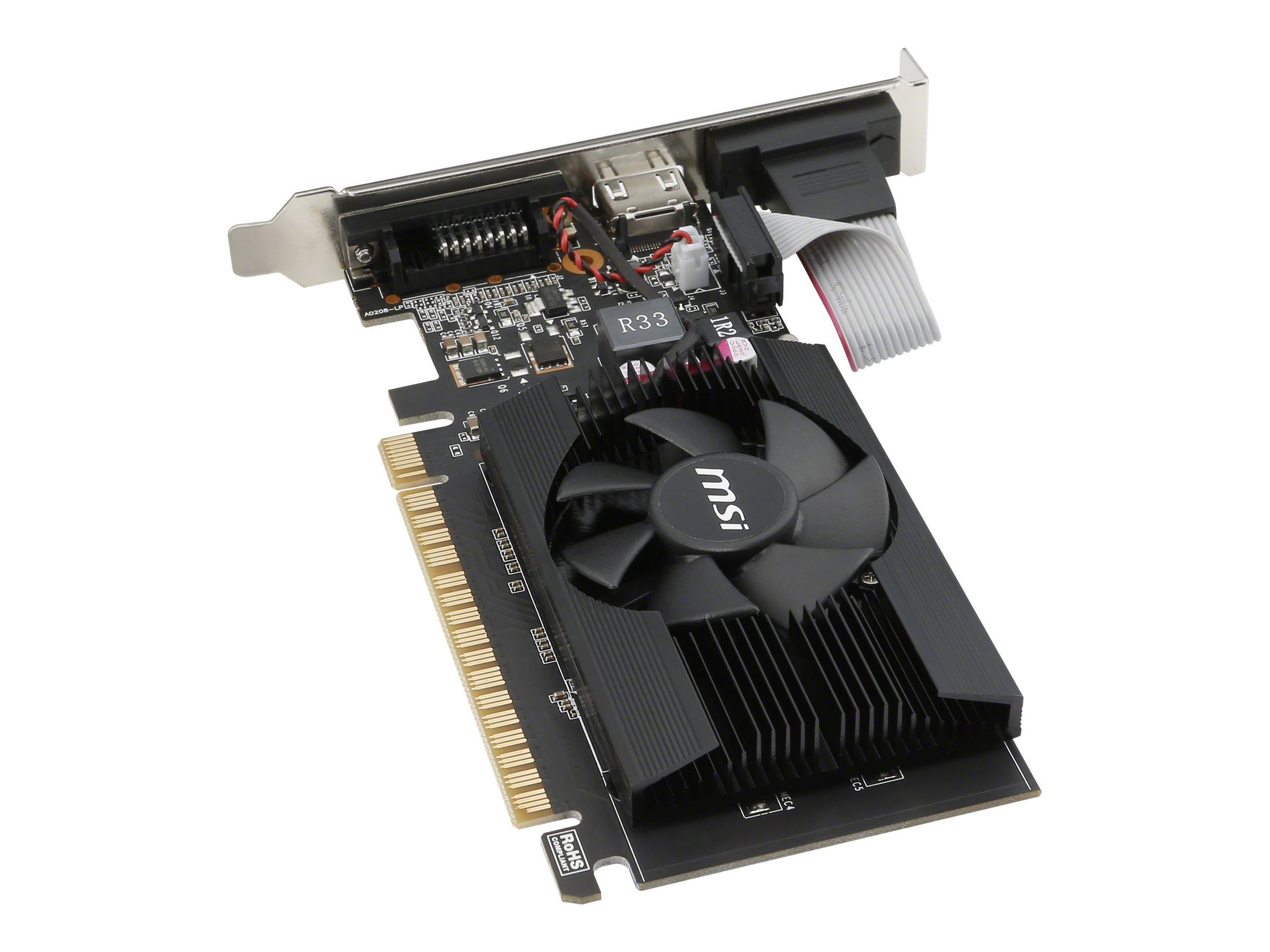 MSI GT 710 2GD3 LP - graphics card - GF GT 710 - 2 GB