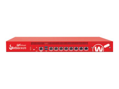 WatchGuard Firebox M670 - security appliance - with 1 year Total Security Suite