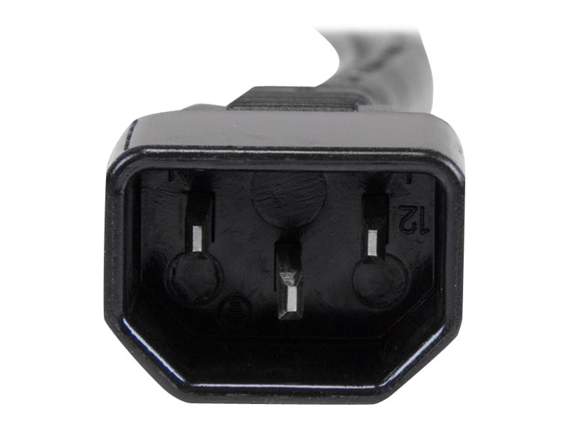 StarTech.com 3 ft Heavy Duty 14 AWG Computer Power Cord - C14 to C19 - 14 AWG Power Cable - IEC 320 C14 to IEC 320 C19 Power Cord - power cable - IEC 60320 C19 to IEC 60320 C14 - 3 ft