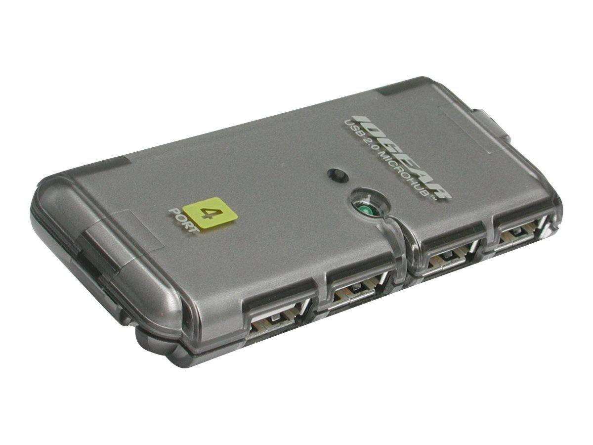IOGEAR MicroHub GUH274 - hub - 4 ports