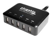 Plugable Power 2015 Smart Charger power adapter - 5 x 4 pin USB Type A - 40 Watt