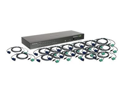 IOGEAR GCS1716KITUTAA 16-Port VGA Combo KVM Swith with USB KVM Cables - KVM / USB switch - 16 ports - rack-mountable