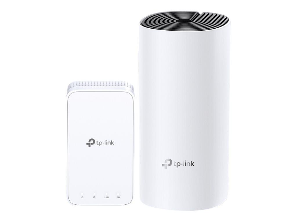 TP-Link Deco M3 - 3 Pack - Wi-Fi system - 802.11a/b/g/n/ac - desktop, wall-pluggable