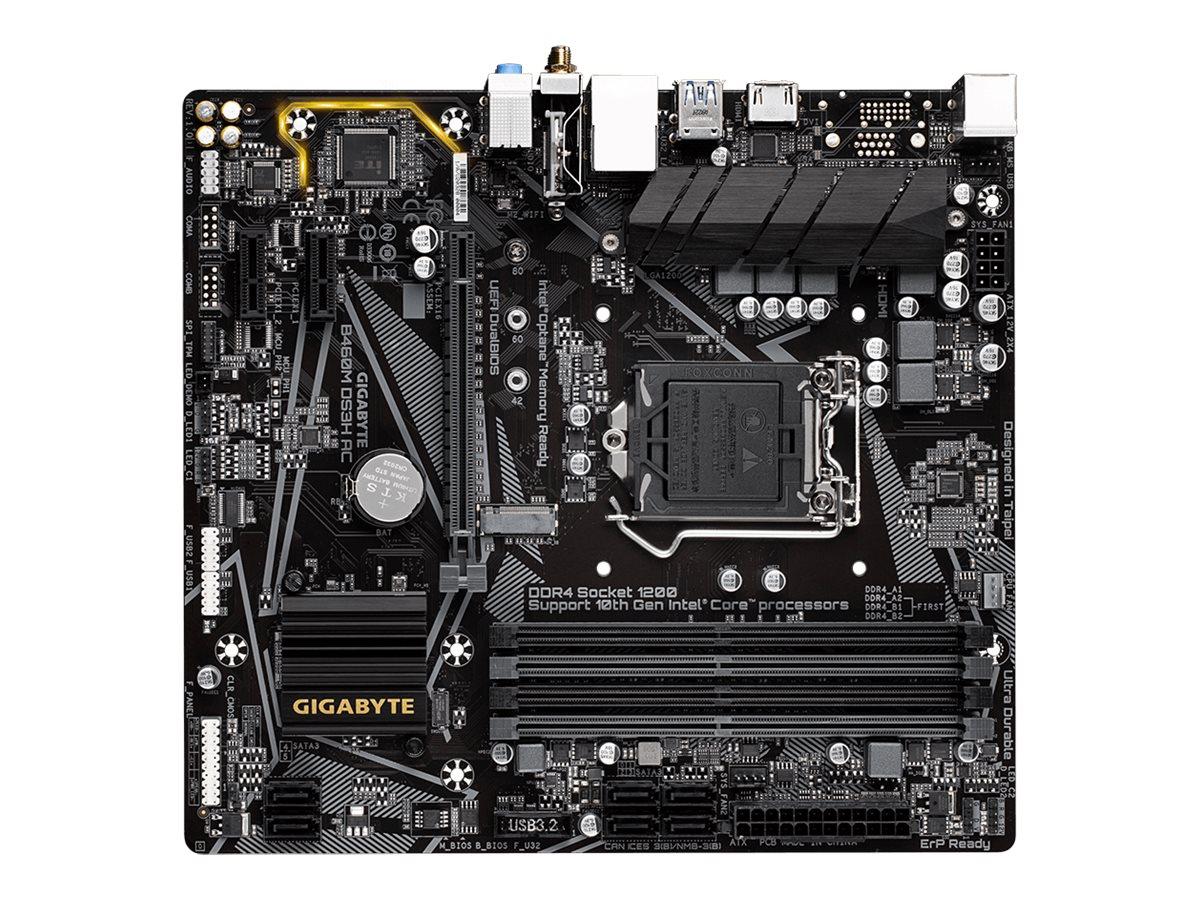 Gigabyte B460M DS3H AC - 1.0 - motherboard - micro ATX - LGA1200 Socket - B460