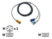 IOGEAR keyboard / video / mouse (KVM) cable - 10 ft