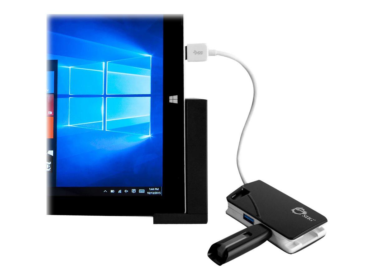 SIIG SuperSpeed USB 3.0 LAN Hub - Type-C Ready - network adapter - USB 3.0 - Gigabit Ethernet + USB 3.0 x 3