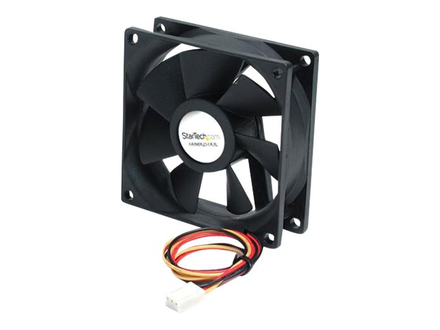 StarTech.com 80x25mm Ball Bearing Quiet Computer Case Fan w/ TX3 Connector - 3 pin case Fan - TX3 Fan - computer case Fan (FAN8X25TX3L) system fan kit