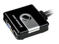 IOGEAR 2-Port Compact USB VGA KVM with Built-in Cable design GCS42UW6 - KVM switch - 2 ports