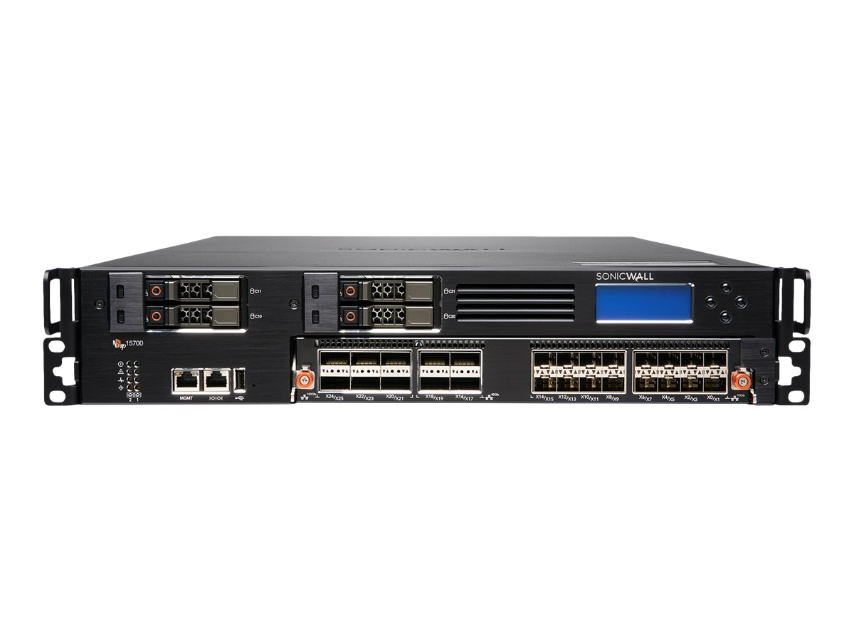 SonicWall Network Security services platform 15700 - Essential Edition - security appliance - with 1 year TotalSecure
