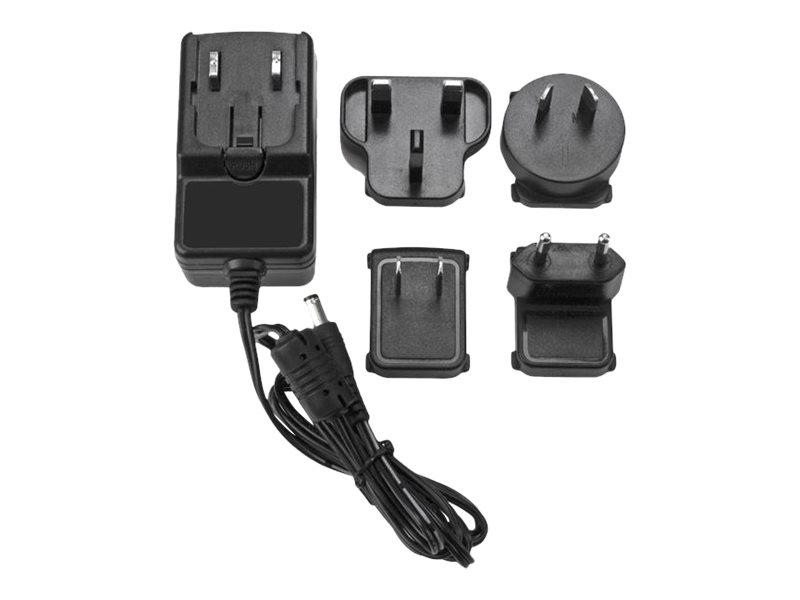 StarTech.com DC Power Adapter - 12V, 2A - Universal Replacement Power Adapter (NA, EU, UK, AU) (SVA12M2NEUA) - power adapter